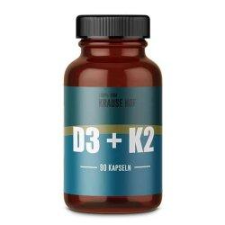 Vitamin D3+K2  5000IU/200mcg   90 Kapseln - Krause Hof